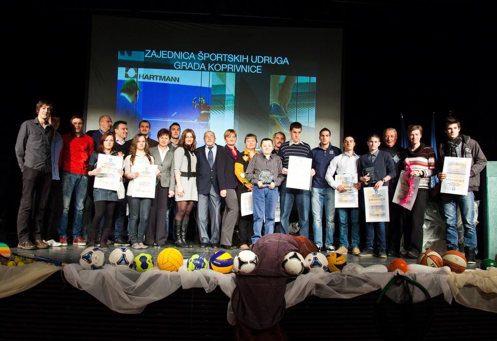 Proglašenje najuspješnijih sportašica, sportaša i sportskih ekipa Grada Koprivnice 2012.