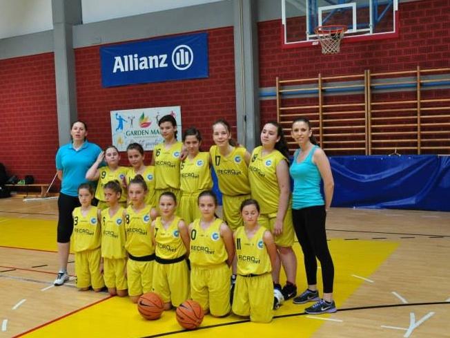 Djevojčice košarkašice Koprivnice 7. u Hrvatskoj