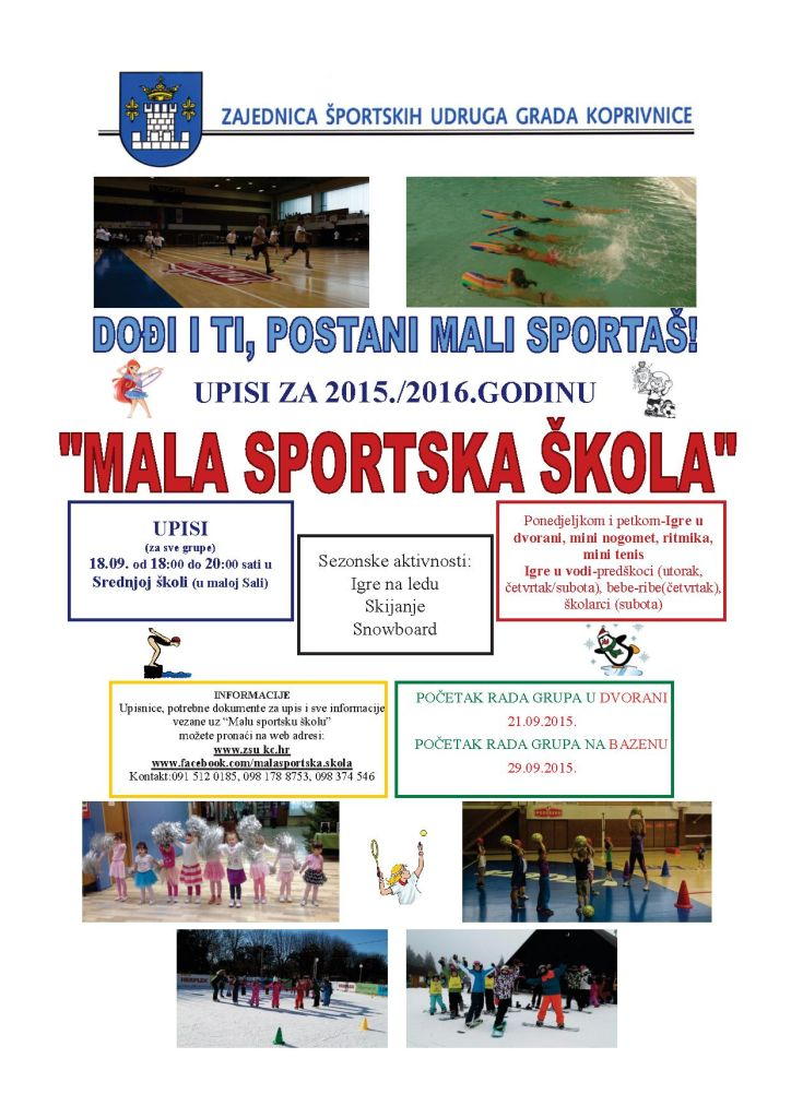 Upisi u Malu sportsku školu (2015./'16.)