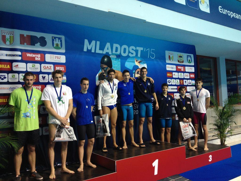 Plivač Šimun Golčić osvojio srebrnu medalju na Međunarodnom plivačkom mitingu Mladost