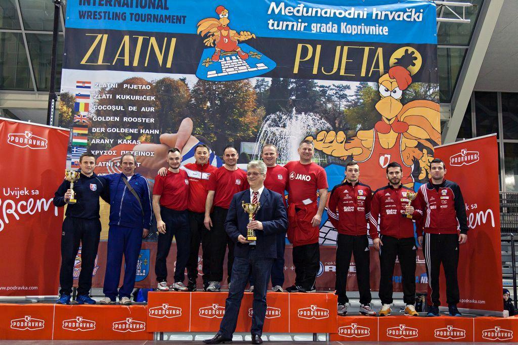 Hrvači Podravke i na 13. Zlatnom pijetlu najuspješnija ekipa turnira – osvojili 25 odličja
