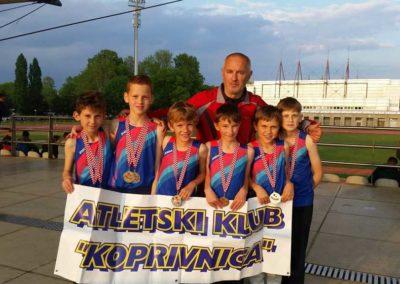 Koprivnički atletski limači zlatni i srebrni na Državnom prvenstvu u štafetama