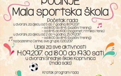 Upisi u Malu sportsku školu