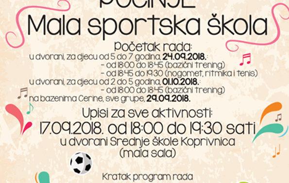 Upisi u Malu sportsku školu 2018. godine