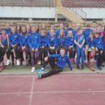 Mlađe kadetkinje pobjednice Hrvatske atletske lige sjever, limači drugi