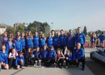 Devet medalja sa Pojedinačnog prvenstava Hrvatske atletske lige Sjever