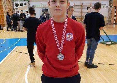 Ivan Adžaga, jedini do medalje na Međunarodnom Božićnom turniru u Zagrebu