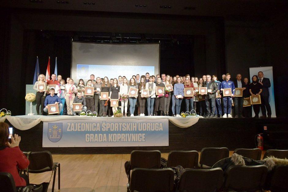 Proglašeni najuspješniji sportaši, sportašice i sportske ekipe Grada Koprivnice za 2018. godinu