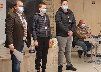 Jan Horčička (u sredini) - najbolja 3. ploča natjecanja